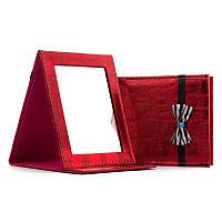 Зеркало косметическое складное №5204 красное