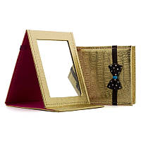 Зеркало косметическое складное №5204 золотое