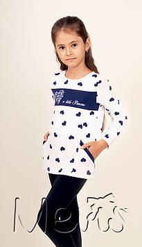 Детская кофта туника для девочки с карманами