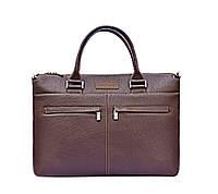 Кожаная деловая сумка Issa Hara B2 коричневая
