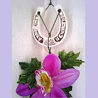 """Сувенир настенный """"Орхидея"""", керамика, 90*15 см"""