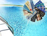 ПВХ-мембрана для бассейнов Texpool Glossy Printed 1,5 мм (1,6 х 25 м) золотая мозаика, марбелья золото