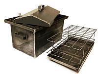 Коптильня Домик из горячекатаного металла 2 мм (530х330х300)