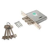 Замок врезной Гардиан 10.01 4 ключа, без накладок и планки.