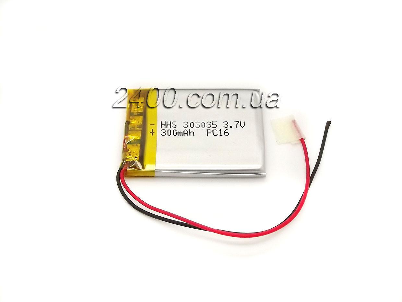 Аккумулятор 300 мАч 303035 3,7в универсальный для игрушек, наушников, гарнитур, охранных систем (300mAh)