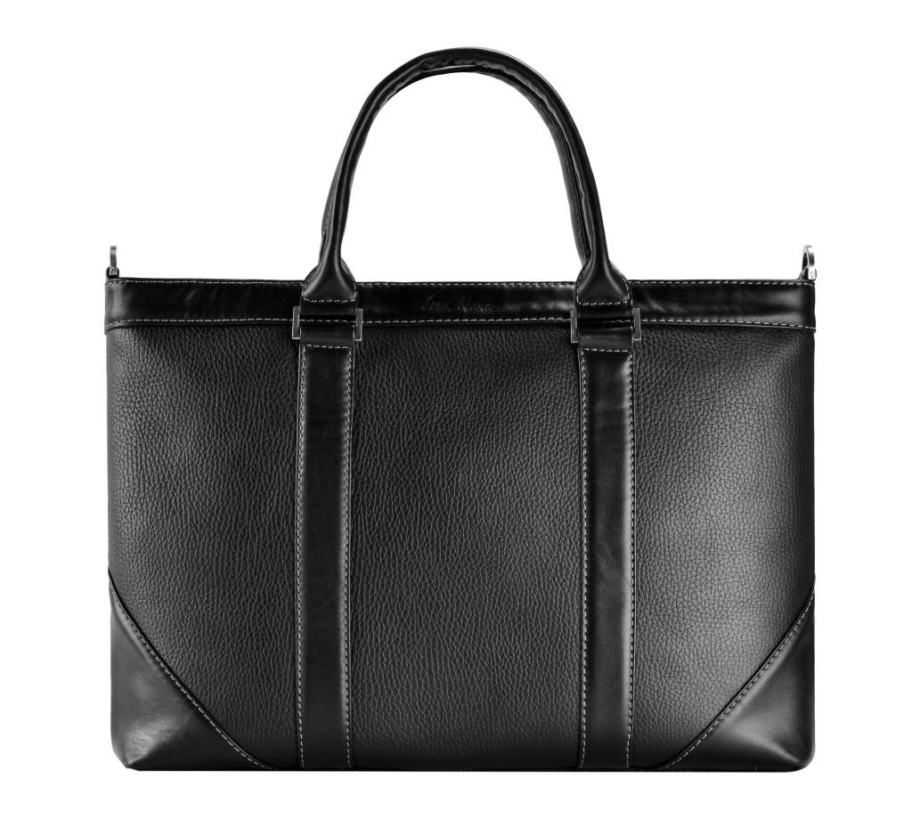 Кожаный мужской портфель Issa Hara B1 черный
