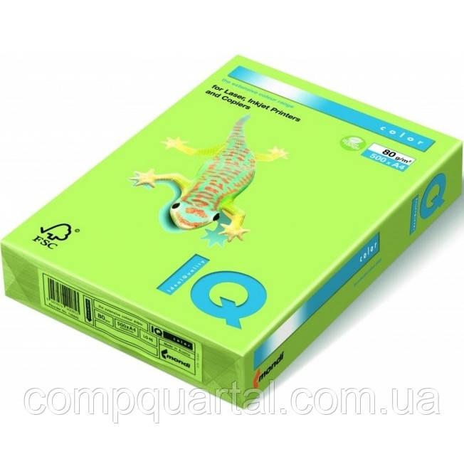 Папір кольоровий 80г/м, А4 500арк. Mondi IQ LG46, (Інтенсивний лимонно-зелений)