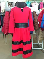 Детское платье красное нарядное праздничное  140 см, 146 см, 152 см, 158 см