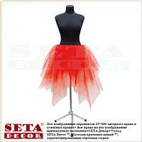 Красная юбка из фатина с блестками карнавальная