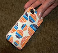 Чехол для iPhone 4,4s,  КРУГИ  пластик гладкий