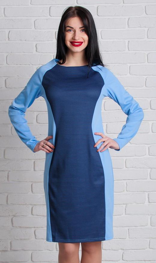 Голубое обтягивающее платье