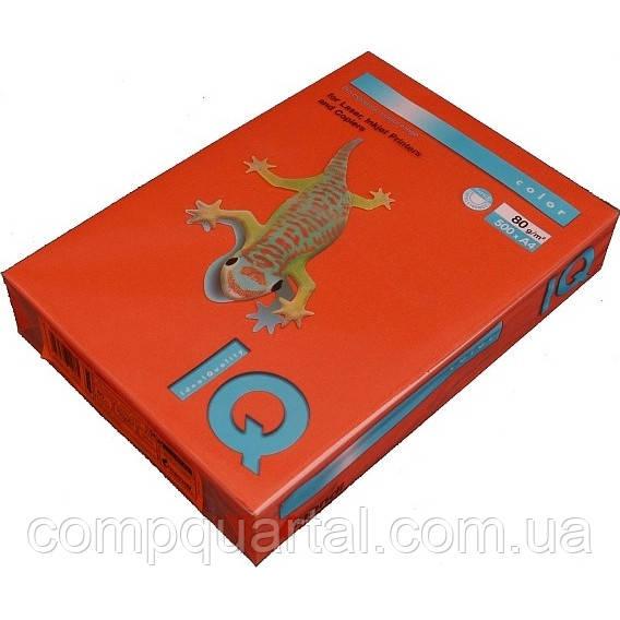 Папір кольоровий 80г/м, А4 500арк. Mondi IQ CO44 (Інтенсивний червоний кораловий)
