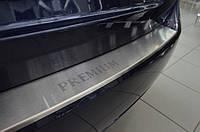 Накладка на задний бампер с загибом Peugeot Bipper  с -2008 г.