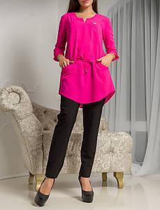"""Красивая женская удлиненная блузка """"Демми Малина"""""""