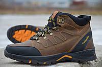 Мужские зимние ботинки Columbia коричневого цвета (реплика)