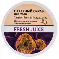 """Крем-масло для тела """"Fresh Juice"""" 225 мл маракуйя и макадамия"""