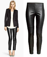 Женские брюки, штаны с кожзама H&M