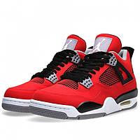 Мужские баскетбольные кроссовки Nike Air Jordan IV red  (найк аир джордан) красные