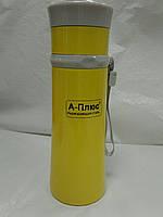 Термос вакуумный 0,28л желтый, фото 1