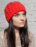 Шапка женская Валери красная 096-red