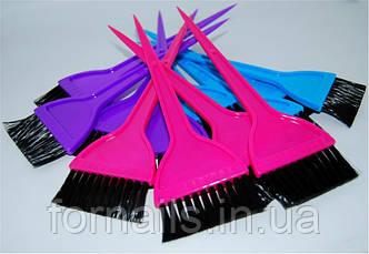 Кисть для покраски волос цветная,широкая
