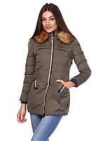 Теплая женская куртка Katrina, цвет зеленый