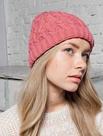 Шапка женская Альпака розовая 049-pink