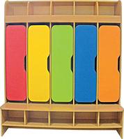 Шкаф 5-ти дверный для раздевалки , фото 1