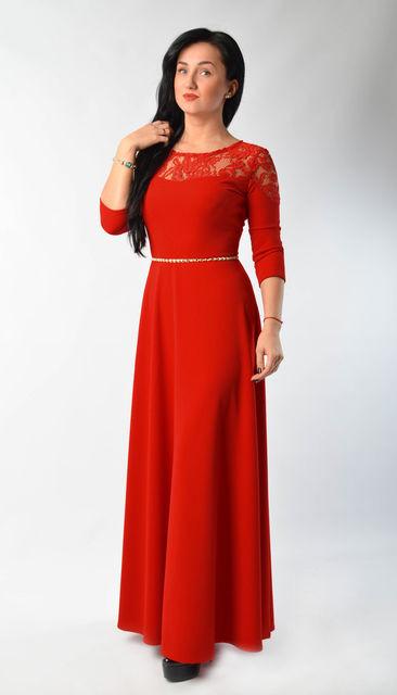 17f31b0de07e Вечернее женское платье в пол красного цвета - купить по лучшей цене ...