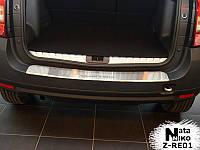 Накладка на задний бампер с загибом Renault Duster  с -2010 г.