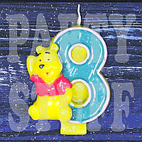 Cвеча цифра Винни Пух 8