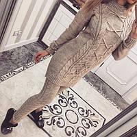 Женский шерстяной вязанный костюм е20МШ