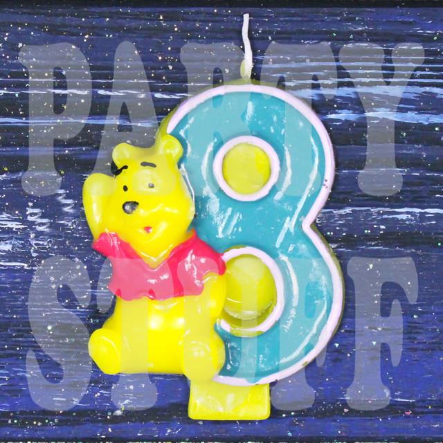 Свеча цифра 8 и Винни Пух