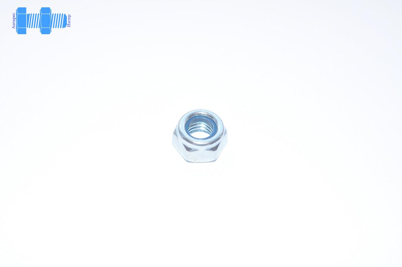 Гайка нержавеющая М22 с нейлоновым кольцом самоконтрящаяся DIN 985