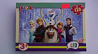 "Пазлы ""Холодное сердце.Frozen"",120 ел,Leo Lux,230х165 мм.Детские пазлы Leо-""Холодное сердце.Frozen"", 120 елеме"
