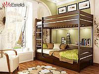 Деревянная Кровать двухъярусная «Дуэт» Эстелла (МАССИВ)