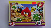 """Пазлы """"Злые птицы.Angry Birds"""",120 ел,Leo Lux,230х165 мм.Детские пазлы Leо-""""Злые птицы.Angry Birds"""""""", 120 елем"""