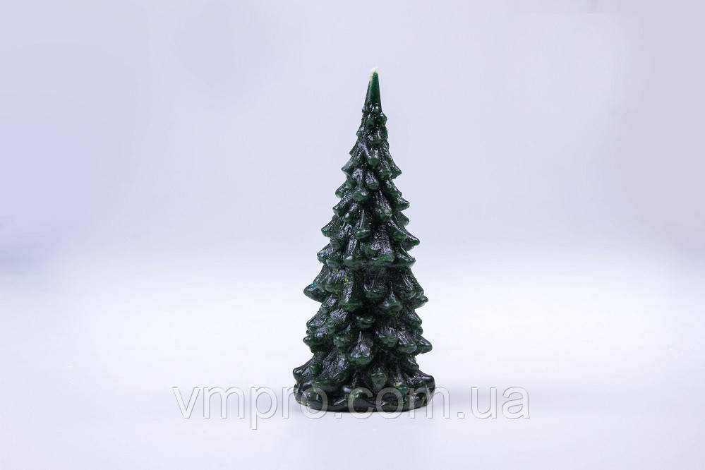 """Свічки декоративні, новорічні Ялинка"""", зелена h-125 мм"""