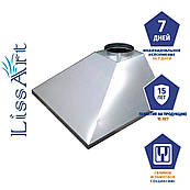 Зонт кухонный вытяжной пристенный из нержавеющей стали без жироулавливающего фильтра