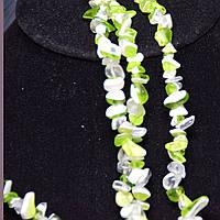 Кварц зелено-белый   крошка камня 90 см.