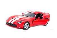 """Модель легковая 5"""" KT5363FW 2013 SRT Viper GTS металическая инерционная окрывается двери"""