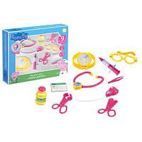 Игровой набор «Peppa Pig» (29924) Пеппа доктор с аксессуарами, 9 предметов