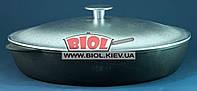Жаровня чугунная 32х6см с алюминиевой крышкой ЭКОЛИТ (Украина)