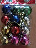 Новогодние украшения игрушки на елку 12шт D3 см, фото 2