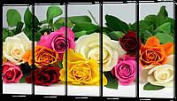Модульная картина Красивые розы 118* 64 см Код: w5607