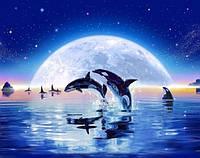 Алмазная вышивка Дельфины 37 х 30 см (арт. FS320)