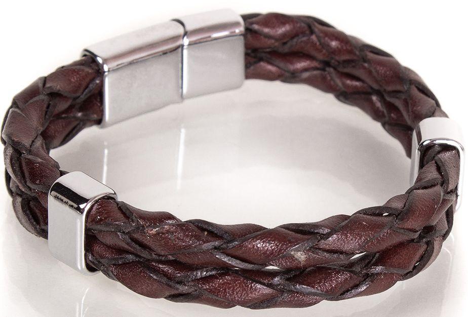 Кожаный браслетDERIBILEKLIK(ДЕРИБИЛЕКЛИК) SH10046-2, коричневый