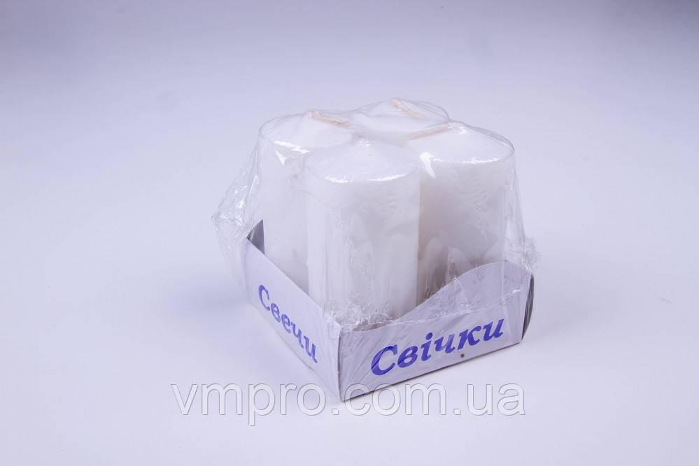 Свечи столбы интерьерные большие 40 × 80, 8 часов, 4 шт/упаковка
