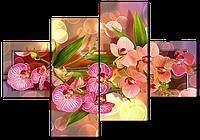 Модульная картина Композиция из орхидей 166* 114 см Код: w5392