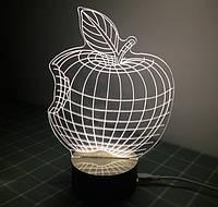 3D cветильник в виде Яблока Apple Оптический обман Ночник